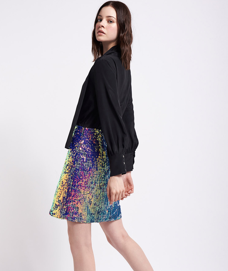 DRESS WITH IRIDESCENT SEQUINS