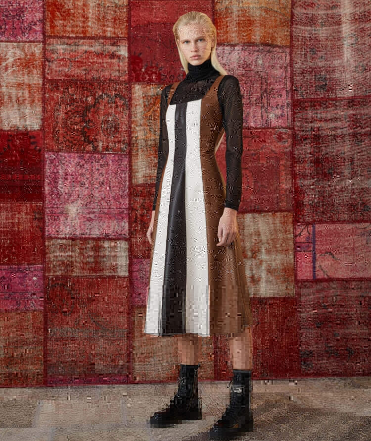 ABITO IN ECOPELLE PATCHWORK