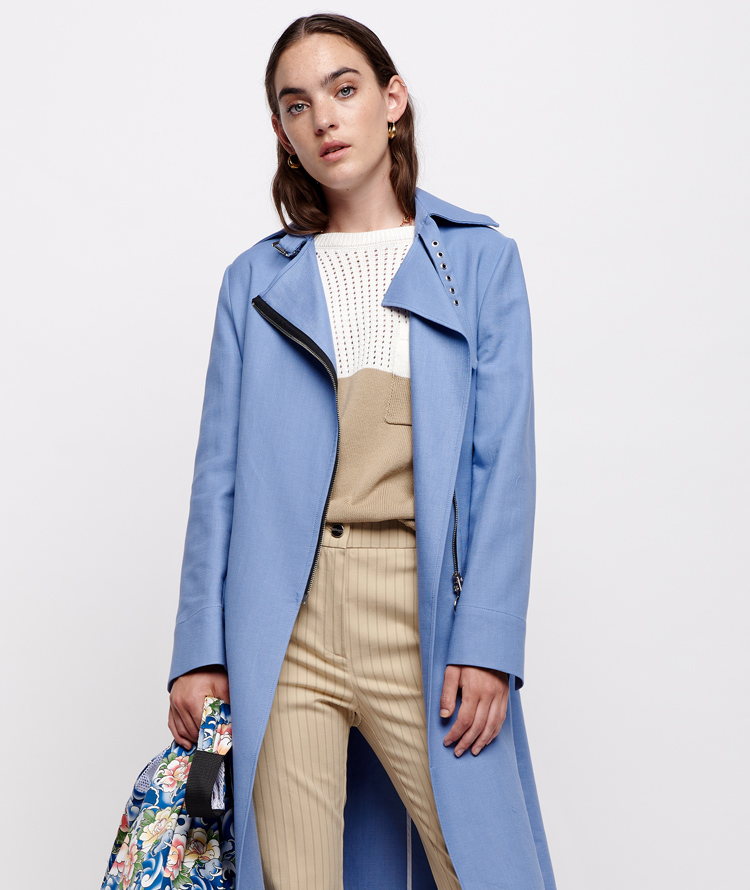 POWDER BLUE TRENCH